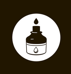 Ink icon black and white vector