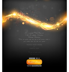 Invitation with Fire Design vector image