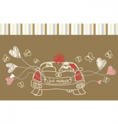 just married auto vector image