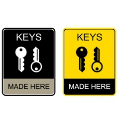 keys made here vector image vector image