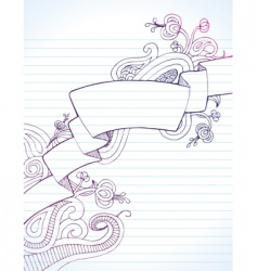notebook banner vector image vector image