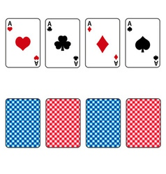 Playing cards set of four ace eps10 vector
