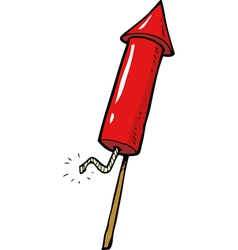 red rocket fireworks vector image