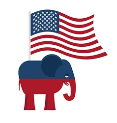 Republican elephant symbol of political party in vector