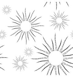 Retro Sunburst Linear Seamless Pattern vector image vector image