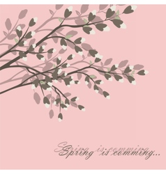 Spring is coming background tree vector