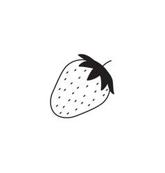 Strawberry line icon healthy fruit vector