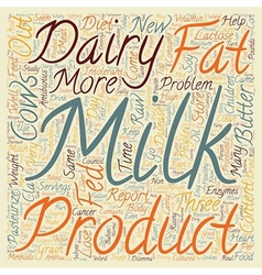 The dairy dilemma text background wordcloud vector