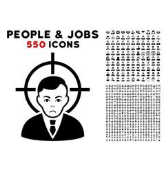 Victim businessman icon with bonus vector