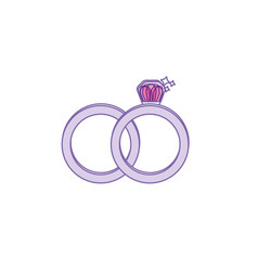 Wedding ring to symbolic the love vector
