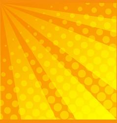 Yellow dots on orange background vector