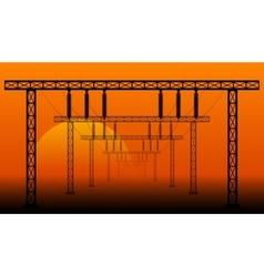 landscape high voltage power transmission vector image