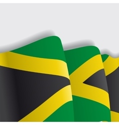 Jamaican waving flag vector