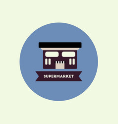 stylish icon in color circle building supermarket vector image