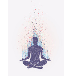 meditation enlightenment sensation of vibrations vector image