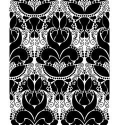 Black white vintage ornament vector