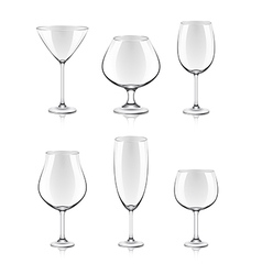 Object cocktail glasses vector
