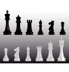 White and black chess vector
