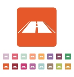 The road icon highway symbol flat vector