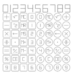 Set of mathematical symbols vector
