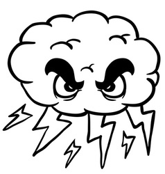 Black and white storm cloud vector