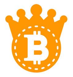 Bitcoin crown flat icon vector