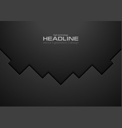 Black tech geometric concept background vector