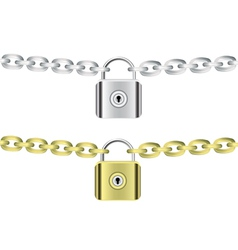 chains and locks vector image