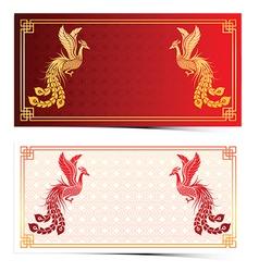 Chinese phoenix template vector