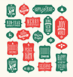 Christmas design elements for gift tags greetings vector