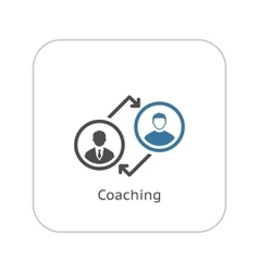 Coaching icon business concept flat design vector