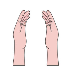 Cute hands with nails and fngers vector