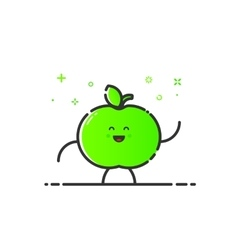 funny apple character vector image
