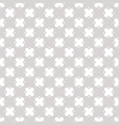 geometric floral pattern abstract silver ornament vector image vector image