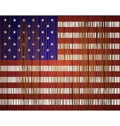 grunge usa flag Eps10 vector image vector image