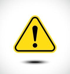 Hazard warning attention sign vector image vector image