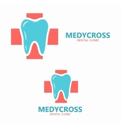 Health medical or dental logo tooth icon vector image