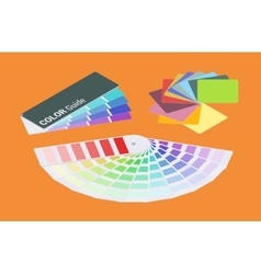 Isometric color guides vector