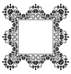 Lace quadratic frame vector