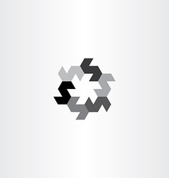 letter s in circle black icon rotation vector image
