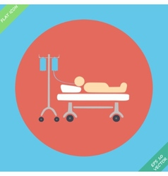Life icons hospitalized with serum- vector image vector image