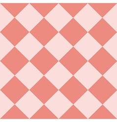 Light pink coral chess board diamond background vector