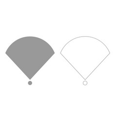 location or radar grey set icon vector image