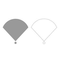 Location or radar grey set icon vector