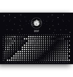 Moon Calendar 2017 vector image vector image