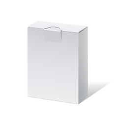Realistic White Package Box For Software vector image