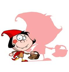Red riding hood cartoon vector image