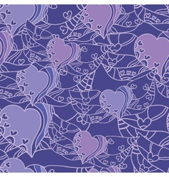 seamless abstract pattern with lilac hearts vector image