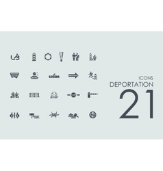 Set of deportation icons vector
