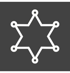 Sherrif badge vector